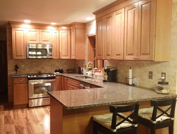 Cliqstudios Maple Caramel Kitchen Cabinets In The Cambridge Style My Next Kitchen