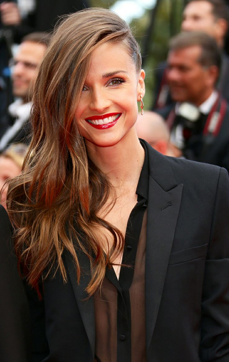 Best Hairstyleat#Cannes2014 Celine Bosquet in one-side #braid and free natural curls on the other-side #hairstyle at the #RedCarpet during #Cannes Film Festival 2014
