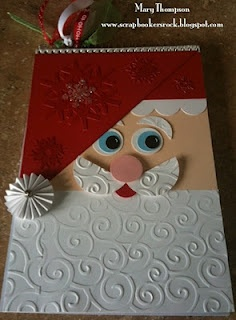 Scrapbookers rock: Santa Notebook but I'd make it into a card