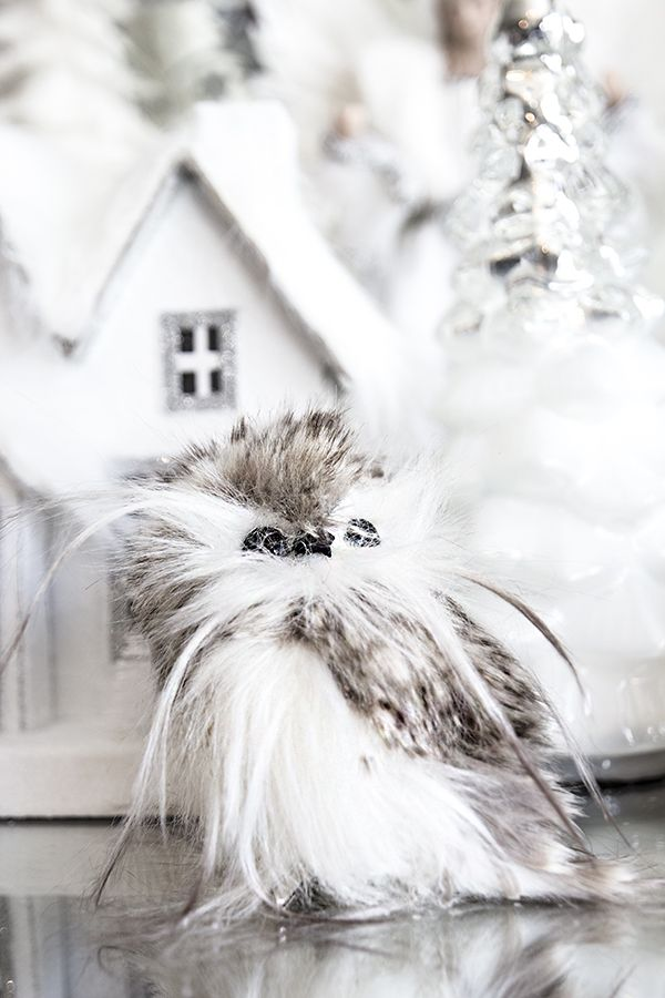 Herlig liten snøugle, grå