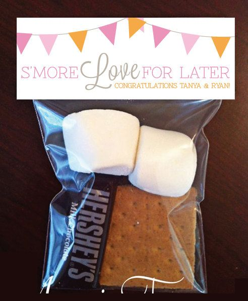 Printable Custom DIY Smore Favor Tag