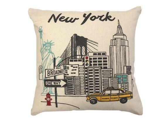 Landmark est un gage pour vous faire frémir avec des bâtiments emblématiques brodés et des monuments impressionnants qui définissent une ville. Londres, Paris et New York en fournissent de superbes qui seront les points focaux sur votre canapé!