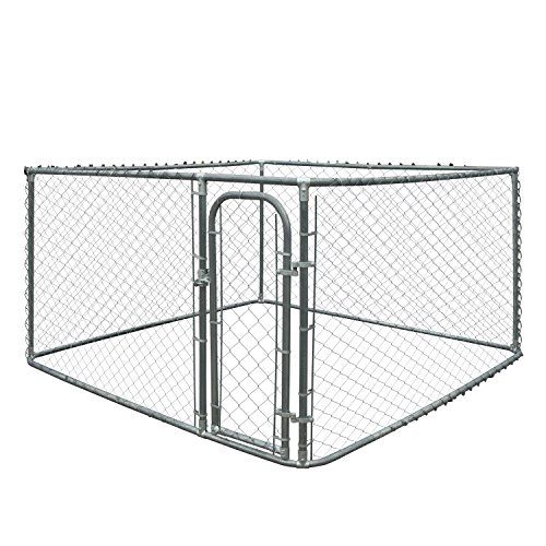 ALEKO Dog Kennel 7.5 x 7.5 x 6 Feet DIY Box Kennel Chain Link Dog Pet System Run for Chicken Coop Hens House For Sale https://shockcollarsfordogs.us/aleko-dog-kennel-7-5-x-7-5-x-6-feet-diy-box-kennel-chain-link-dog-pet-system-run-for-chicken-coop-hens-house-for-sale/