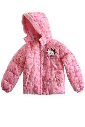 $53 Girls OFFICIAL Hello Kitty Jacket Padded Winter Jacket Coat Sz 3 10AGE Pink | eBay