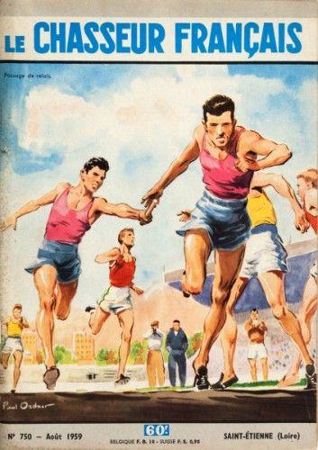 ATHLETICS. Paul Ordner. Le Chasseur Francais (Athletics running race). Original French vintage magazine, 1959.