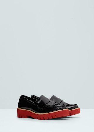 Buty na kontrastowej platformie -  Kobieta | OUTLET Polska