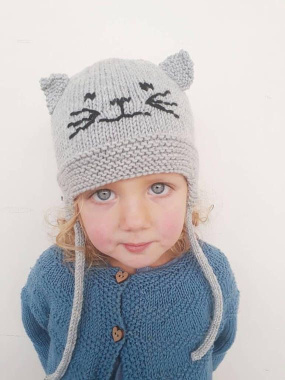 Cat Ears Hat Hat With Ears Child Cat Hathat With Cat Ears Etsy Cat Ears Hat Baby Hats Knitting Cat Beanie
