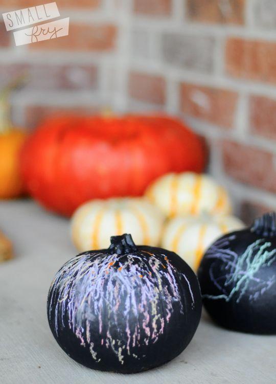 chalkboard paint on pumpkins