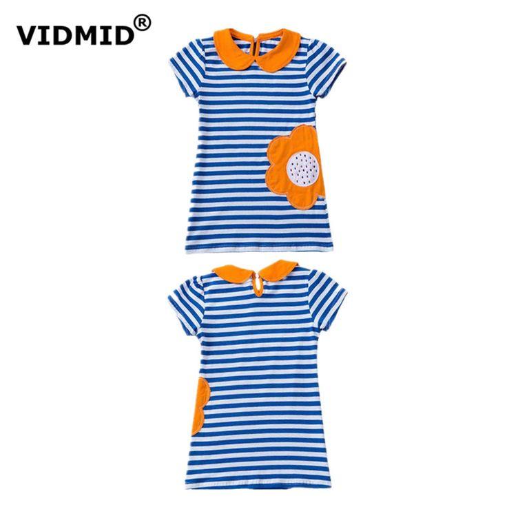 $8.72 (Buy here: https://alitems.com/g/1e8d114494ebda23ff8b16525dc3e8/?i=5&ulp=https%3A%2F%2Fwww.aliexpress.com%2Fitem%2F2016-summer-wear-new-dress-girls-s-short-sleeved-T-shirt-cotton-clothes-lovely-princess-1022%2F32646514500.html ) 2017 summer new children dress baby girls short sleeve cotton striped rainbow rabbit sunflower lovely princess kid dress 1009 10 for just $8.72