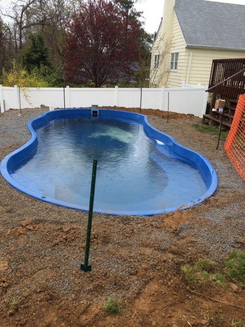 20 best fiberglass pool install 36 images on pinterest for Fiberglass pool installation
