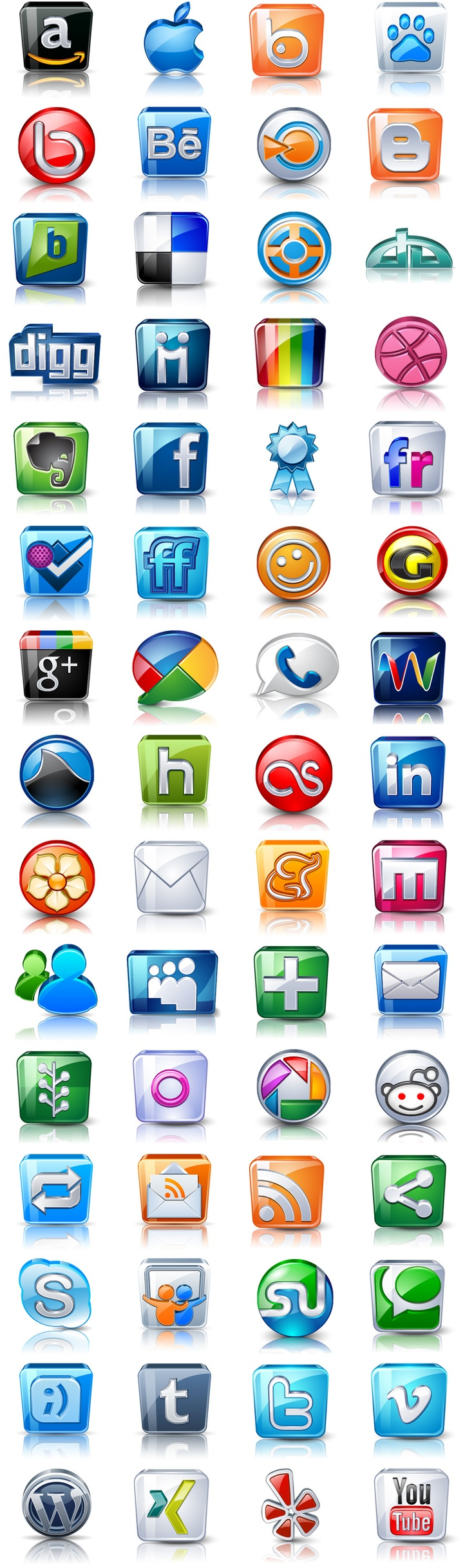 High detail social icons love these by @Barry Schwartz (just need a Pinterest icon).