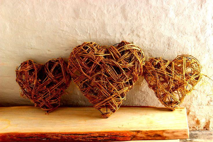 3 decorative hearts