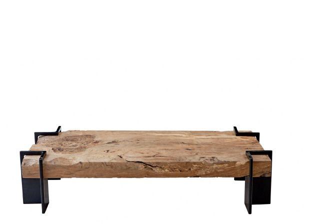 mesa brasília, feita de ferro e madeira canela (monica cintra)