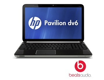 """Listen to the latest music and enjoy powerful graphics with this Pavilion from Hewlett Packard with a 15.6"""" display. This laptop computer includes Beats Audio with 4 speakers for great sound, 4GB of DDR3 RAM, a 500GB hard drive, and an AMD Radeon Gra.."""