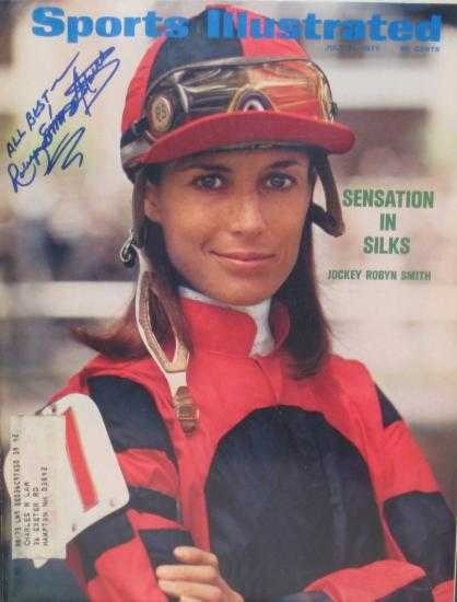 Jockey Robyn Smith Astaire. In 1973 she became the first female jockey to win a stake race in America. In 1980 she married Fred Astaire and lefr racing.