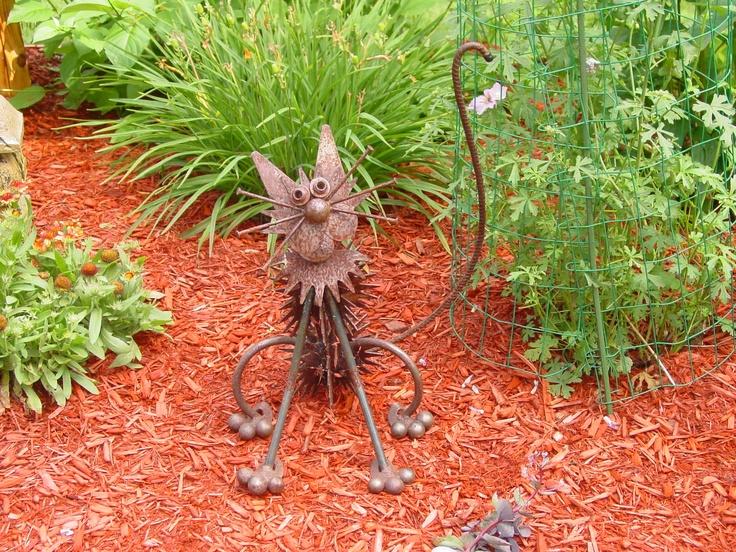Metal cat lawn art my garden pinterest lawn metals for Cat yard art