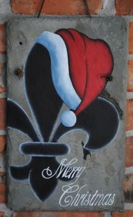 Hey, I found this really awesome Etsy listing at https://www.etsy.com/listing/111529511/merry-christmas-fleur-de-lis-with-santa