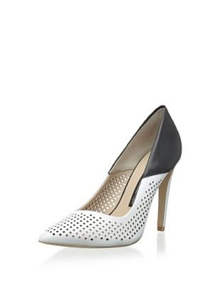 40% OFF French Connection Women's Maya2 Dress Pump (Winter White/Black)