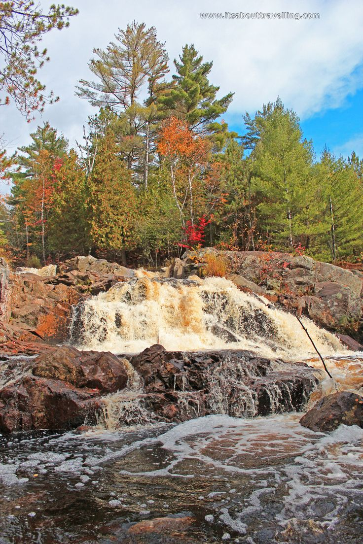 Duchesnay Falls is a hidden gem waterfall located just west of North Bay, Ontario, along the Trans-Canada Highway going toward Sudbury.