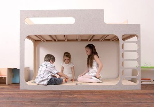 Perludi's AMBERintheSKY foldable birch loft bed