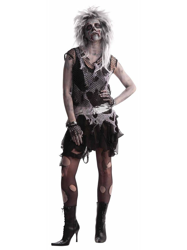 Night of the Living Dead meets Madonna in the Women's Punk Zombie Costume this Halloween
