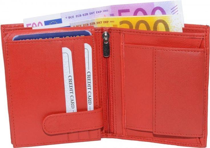 Geldbörse aus Lamm Nappa Leder in strahlendem rot. #fashion #style #stylish #love #leather #mode #trend #fashionable