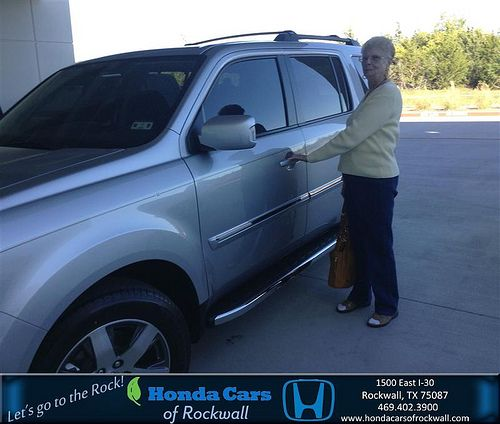 Thank you to Mary Fisk on your new 2014 #Honda #Pilot from Lou Brockman and everyone at Honda Cars of Rockwall! #RidingInStyle