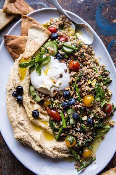 farro tabouleh mit burrata & hummus – eine großartige gesunde & gesunde vorspeise fü …   – Recipes