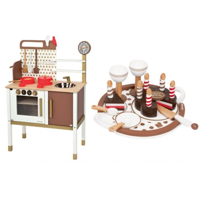 Janod - Chic French Kitchen Cooker Stove + Chic French Birthday Party Set Offer  My two boys are always taking things from the kitchen to 'cook'. They would have so much fun playing with this kitchen #entropywishlist #pintowin