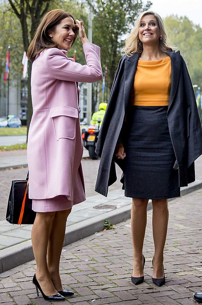 Queen Maxima and Princess Mary attend the 3rd World Conference of Women's Shelters at the World Forum in The Hague