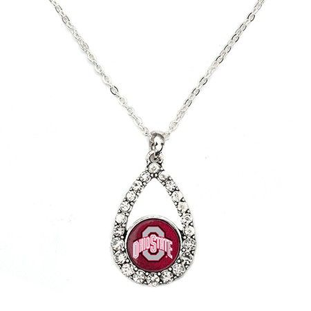 The Ohio State Buckeyes Teardrop Necklace - a sterling silver necklace