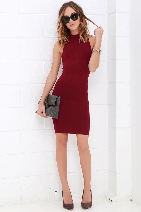 Figure Eight Wine Red Bodycon Dress at Lulus.com!
