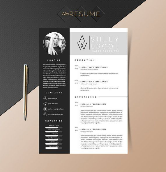3 Page Resume Template Cover Letter And References Template
