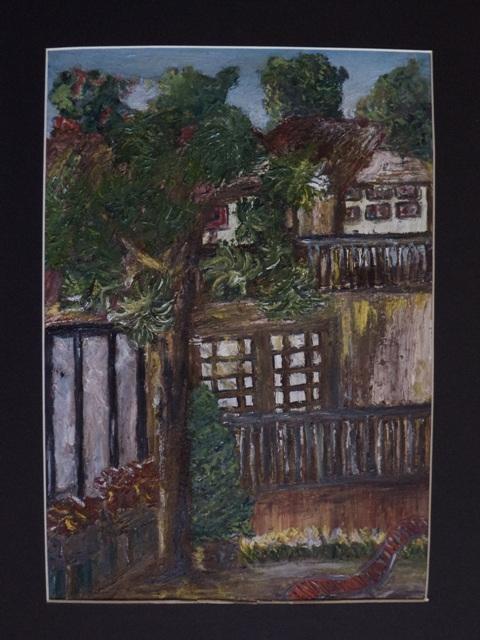 Jaims Art Studio  Oil on paper  400 x 280 (mounted 525 x 380)