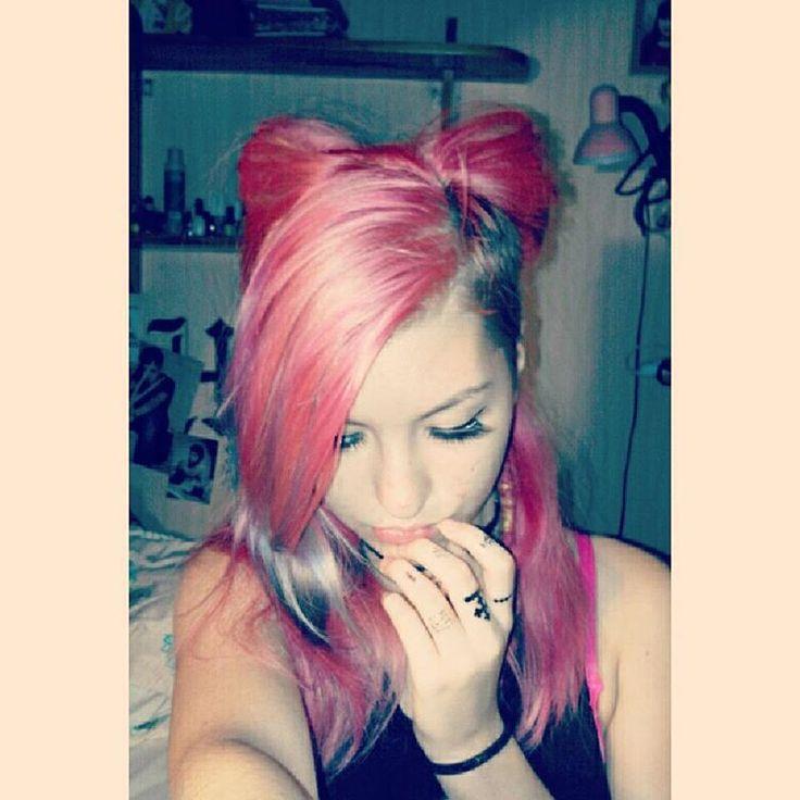 Hello Kitty ✌ #kittenplay #collar #pinkhair #kittenears #kawaii