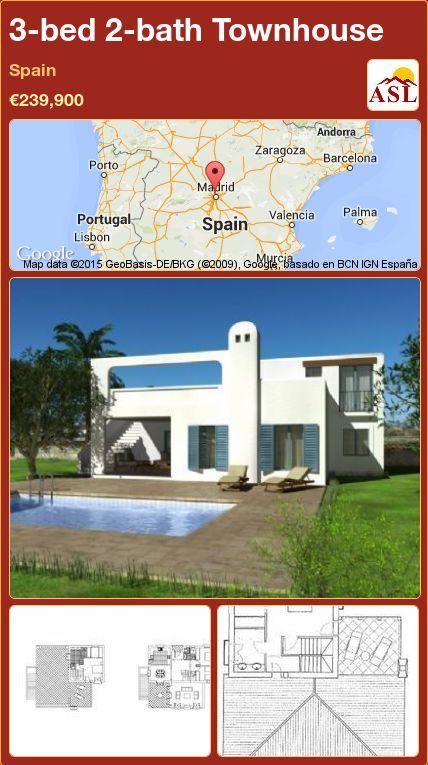 3-bed 2-bath Townhouse in Spain ►€239,900 #PropertyForSaleInSpain