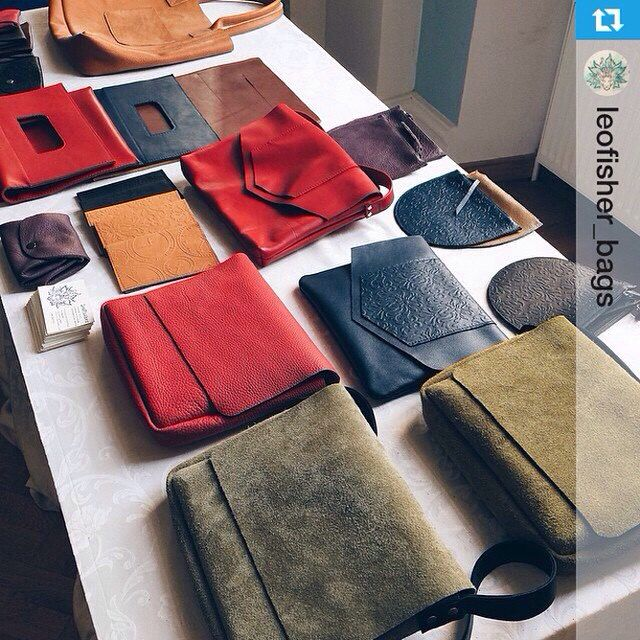Leather bags. Leather pouch. Cosmetic bag. Made by LeoFisherbags http://instagram.com/leofisher_bags . Russia. Saint-Petersburg.