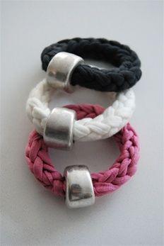 armbanden gemaakt met de breivork