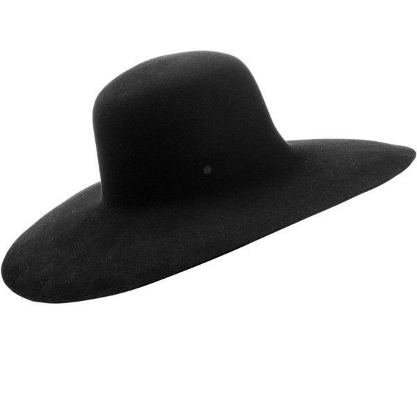 Maison Michel Trent Black Felt Hat ($470) ❤ liked on Polyvore featuring accessories, hats, maison michel, felt hat, maison michel hat and brimmed hat