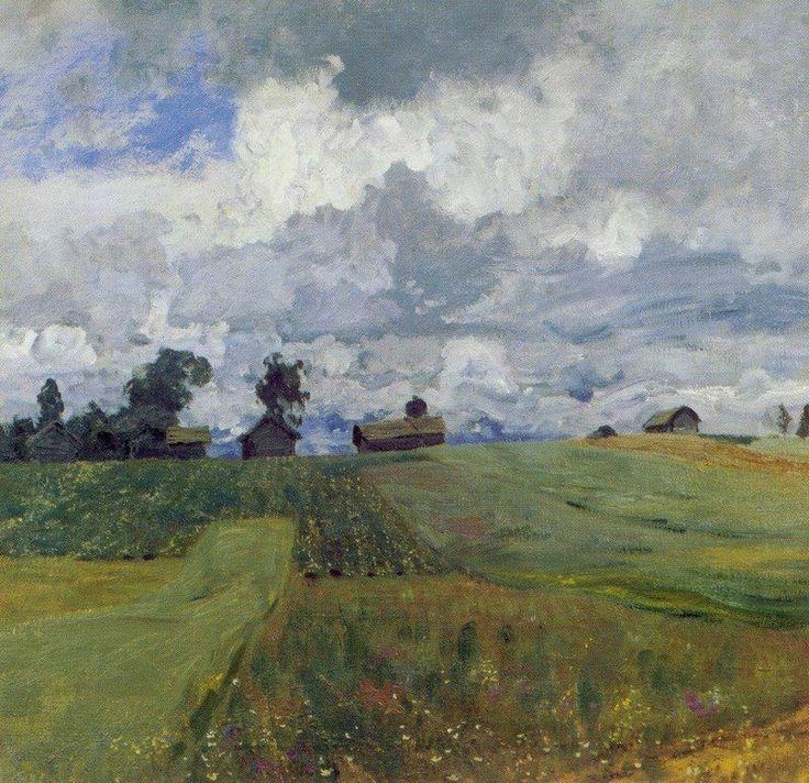 Левитан Исаак Ильич (1860-1900) Isaak Levitan Бурный день. 1897