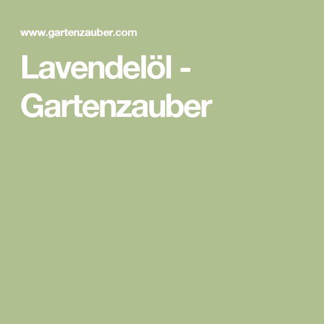 Lavendelöl - Gartenzauber
