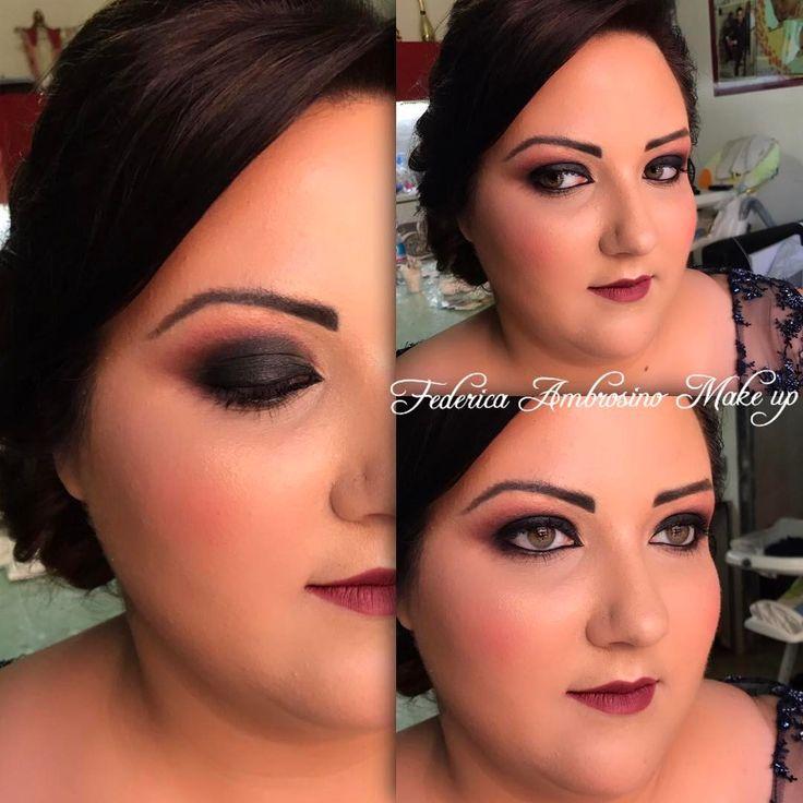 Oggi un make-up strong per Francesca!Grazie per aver scelto me��Smokey nera sfumata nei toni del borgogna,sopracciglia tatuate,bocca in tinta con gli occhi��#makeup #maccosmetics #nyxcosmetics #eyes #eyeliner #smokeyeyes #eyeshadow #lips #lipstickmatte #lipstick #followme #likemyphoto #lovemyjob #instagram #instalike #instadaily #instamood #makeupartist #girl #girls #beauty #beautiful #weddingday #weddingmakeup http://gelinshop.com/ipost/1515866063785627451/?code=BUJcCdTAw87