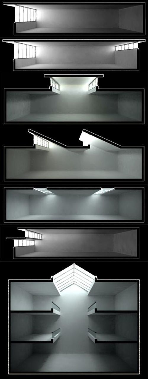 natural lighting - sections