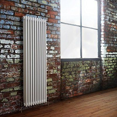 Milano Windsor - Traditional 3 Column Radiator Cast Iron Style White - 1500mm x 470mm - Luxury Victorian Central Heating Designer Radiators - Fixing Brackets included - 15 YEAR GUARANTEE!
