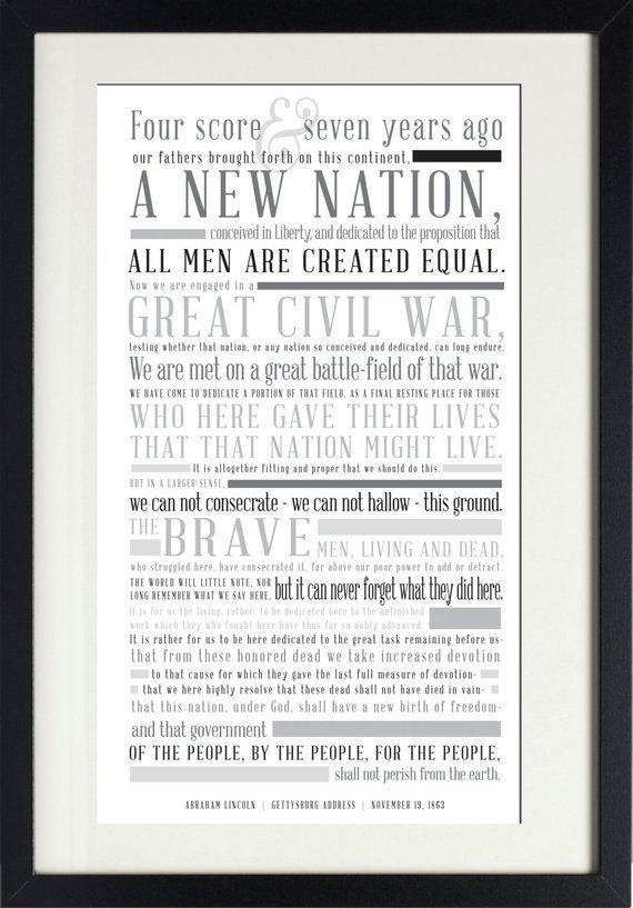 image relating to Gettysburg Address Printable named Quick Down load Gettysburg Go over Instructive Clroom
