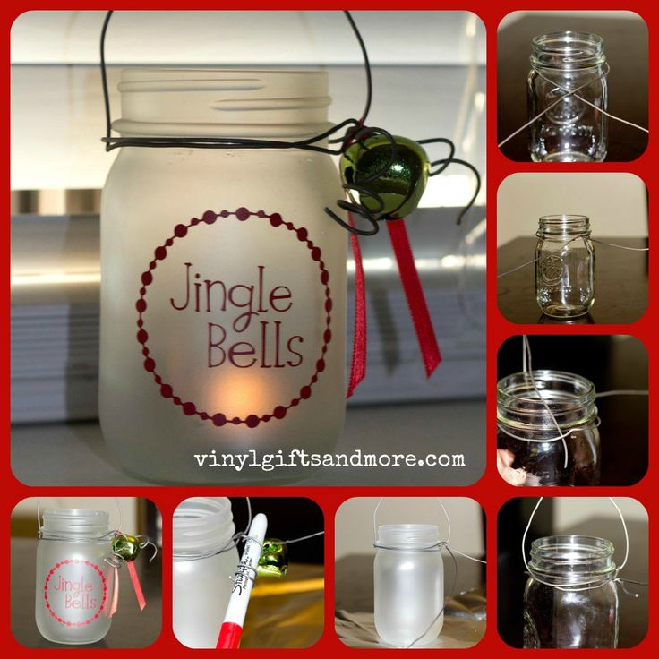 Frosted Holiday Mason Jar Craft.  Made for about $5 per jar! from Super Saturday CraftsChristmas Crafts, Masons, Crafts Ideas, Frosted Mason Jars, Mason Jar Crafts, Super Saturday, Jars Lanterns, Saturday Crafts, Mason Jars Crafts
