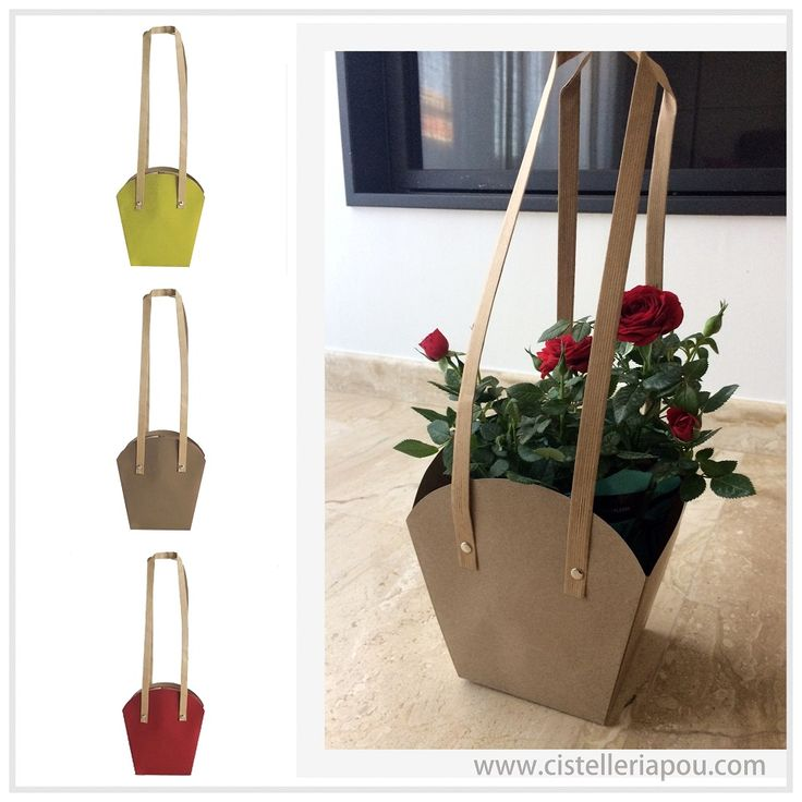 Packging y Cajas para plantas y flores en el día de la madre, envoltorios de floristería, cestas para plantas, bolsa kraft especial para plantas, cistelleriapou.com