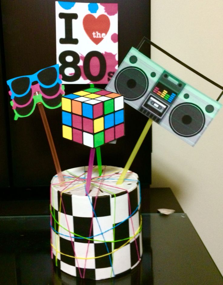 80s themed centerpieces