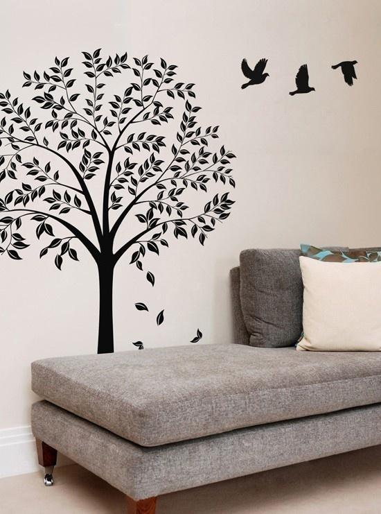 vinyl wall art decal autumn tree decals