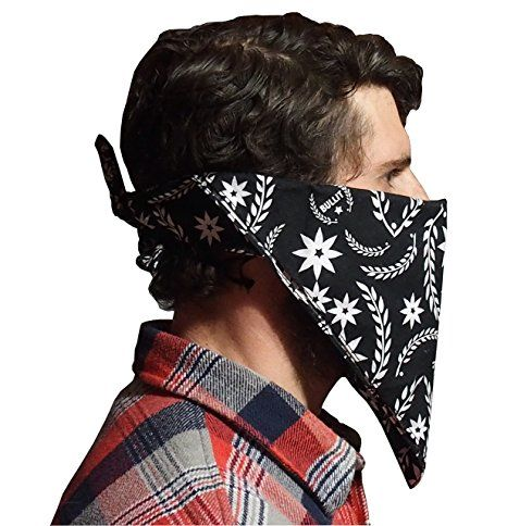 Dust Mask. Multi-Purpose Pollution Mask. Perfect Face Mask For Motorcycling, Music Festivals, Yard Clean Up, Lawn Mowing, ATV, Biking, Pollution, Dust, Woodworking, Gardening, Construction, Pollen, Allergies. Bullit Speed Shop Bandana Mask.
